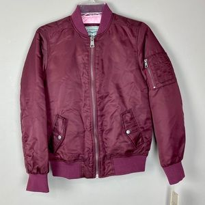 Levi's wine color bomber flight jacket size xs
